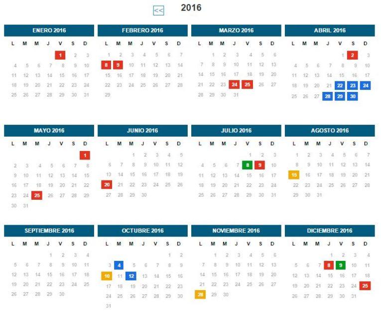Online Calendar 2015 2016 | Calendar Template 2016