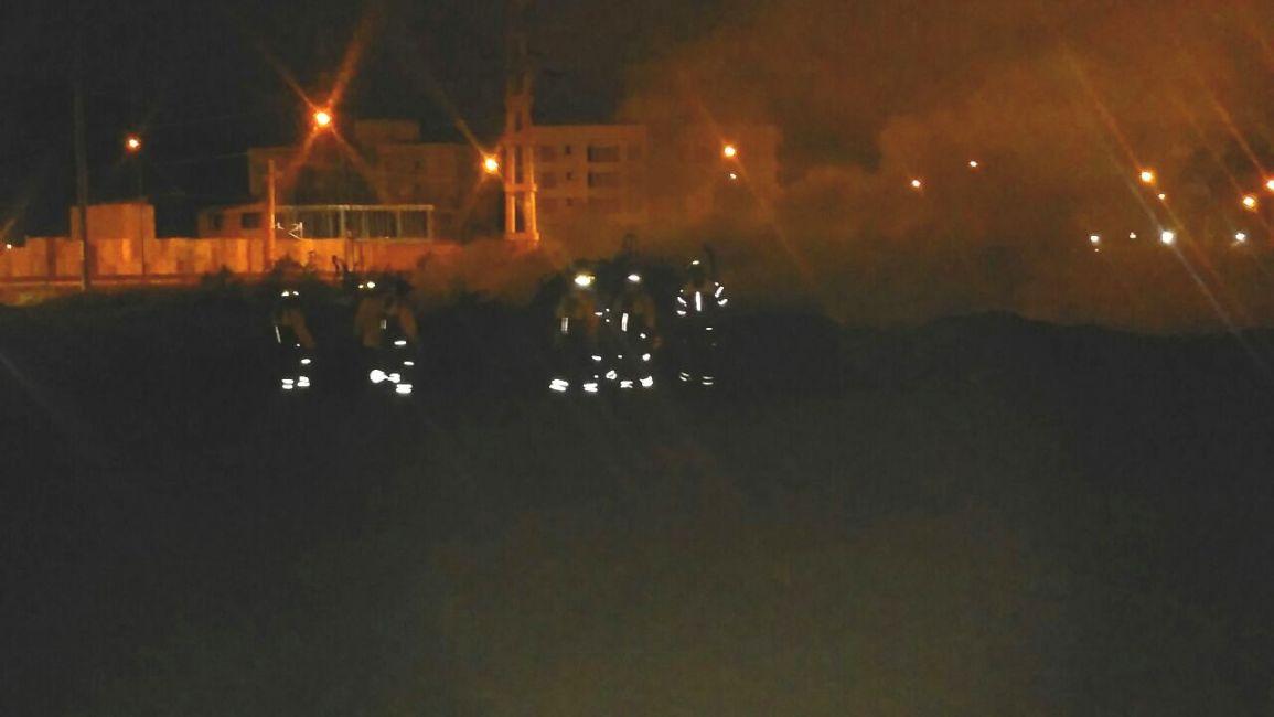 Incendio de pastizales en Pereyra Rosas