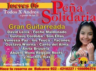 """Peña solidaria """"Todos x Andrea"""""""