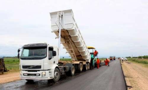 Comenzaron los trabajos de asfalto sobre la Ruta Nacional 50