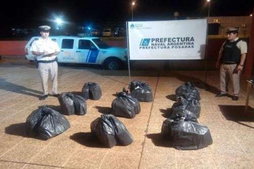 Secuestraron 241 kilos de marihuana en Misiones