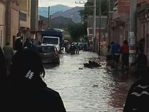 Desborde del Río Grande provocó inundaciones en Tilcara