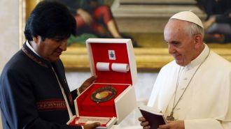 Evo Morales anunció que el Papa visitará Bolivia el año que viene