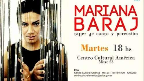Mariana Baraj dictará un taller de música latinoamericana