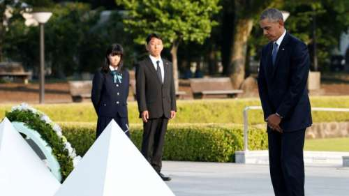 """Barack Obama en Hiroshima: """"Hace 71 años, la muerte cayó del cielo"""""""