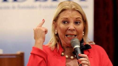 """Carrió dijo que Macri """"está dispuesto"""" a pedir a la Justicia de los Estados Unidos que informe las cuentas de la familia Kirchner"""